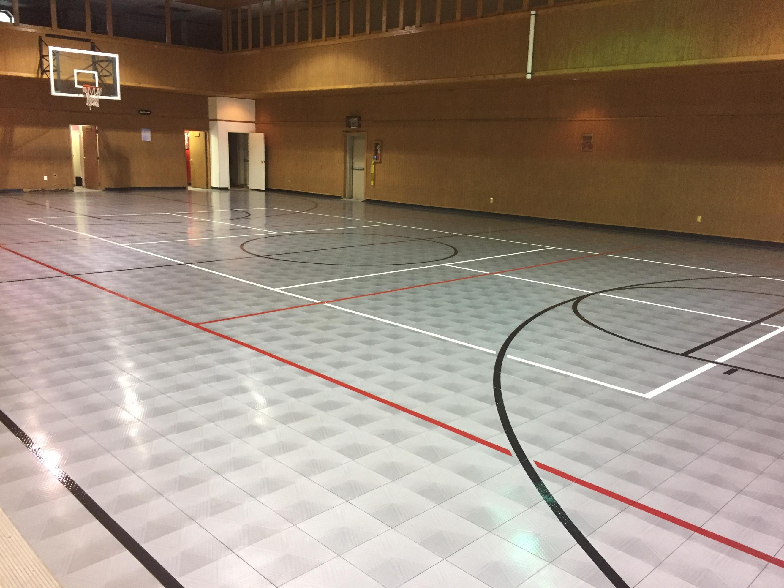 A Modular Sport Court Was The Solution It S Only Athletic Surface We Offer Where Moisture Is Never An Issue Frozen Leaks Steamy Humidity