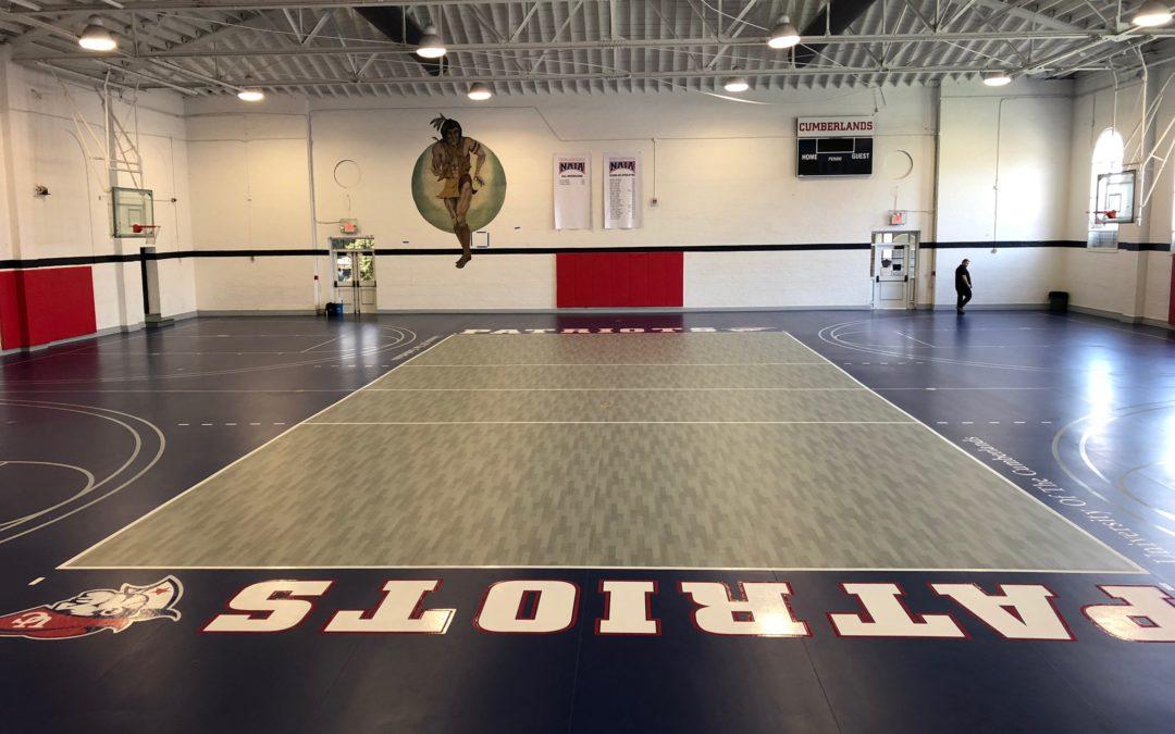 Updating Gym Flooring From Wood To Vinyl Sportcourtkentucky Com